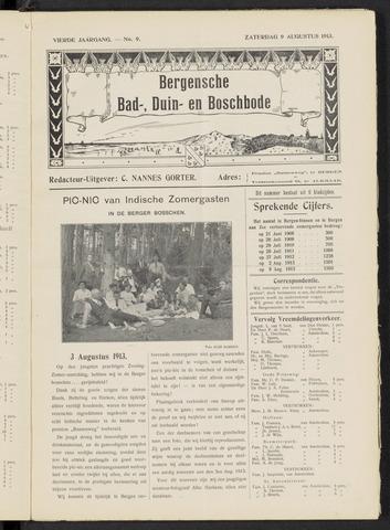 Bergensche bad-, duin- en boschbode 1913-08-09