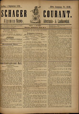 Schager Courant 1889-09-01
