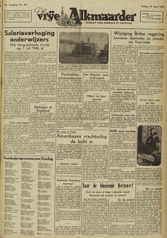 De Vrije Alkmaarder 1947-04-18