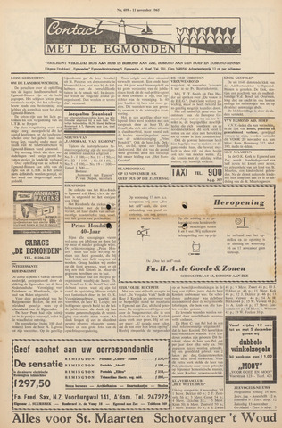 Contact met de Egmonden 1965-11-11