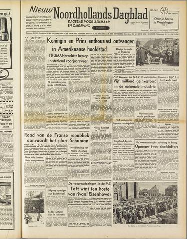 Nieuw Noordhollandsch Dagblad : voor Alkmaar en omgeving 1952-04-03