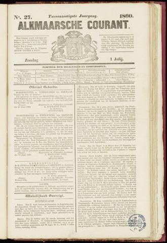 Alkmaarsche Courant 1860-07-01