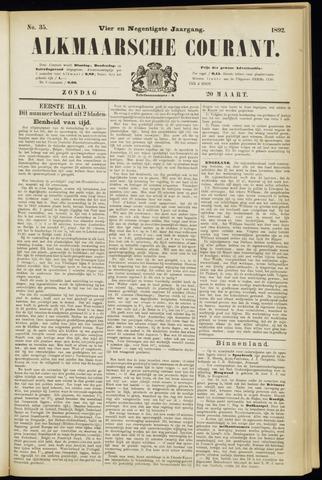Alkmaarsche Courant 1892-03-20