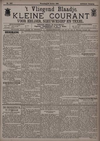 Vliegend blaadje : nieuws- en advertentiebode voor Den Helder 1890-10-29