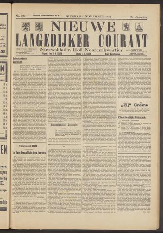 Nieuwe Langedijker Courant 1932-11-01