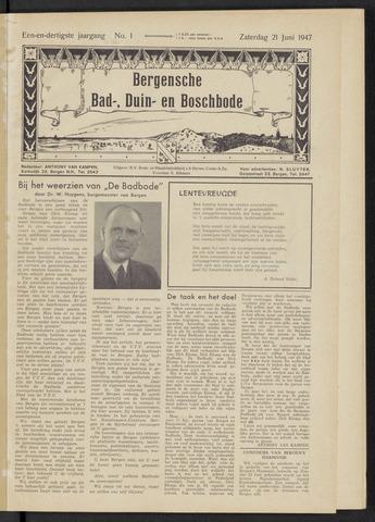 Bergensche bad-, duin- en boschbode 1947-06-21