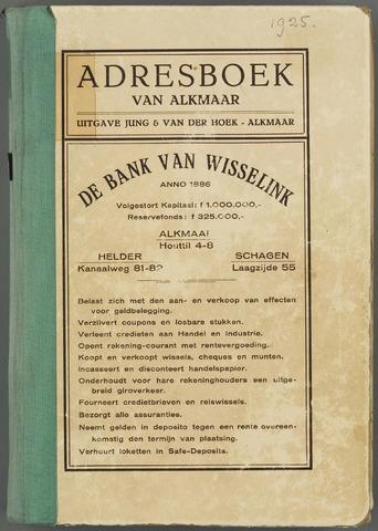 Adresboek van Alkmaar 1925-01-01