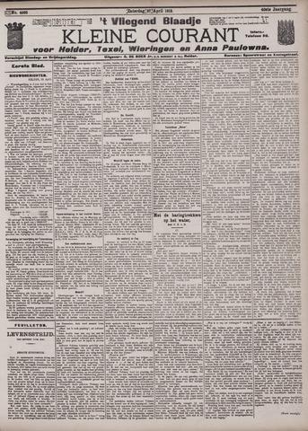 Vliegend blaadje : nieuws- en advertentiebode voor Den Helder 1912-04-27