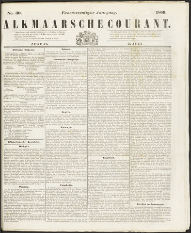 Alkmaarsche Courant 1869-07-25