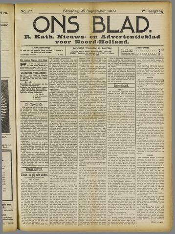 Ons Blad : katholiek nieuwsblad voor N-H 1909-09-25