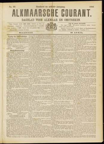 Alkmaarsche Courant 1906-04-23