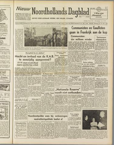 Nieuw Noordhollandsch Dagblad : voor Alkmaar en omgeving 1951-06-18