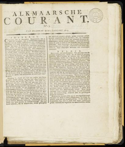 Alkmaarsche Courant 1815-01-02