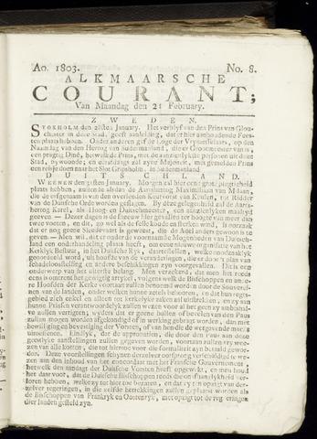 Alkmaarsche Courant 1803-02-21
