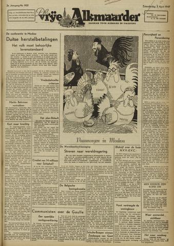 De Vrije Alkmaarder 1947-04-05