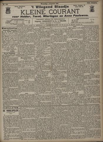 Vliegend blaadje : nieuws- en advertentiebode voor Den Helder 1906-08-01