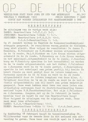 Op De Hoek, weekblad voor Akersloot 1965-02-05
