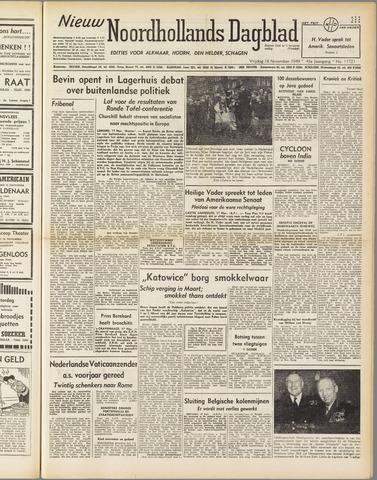 Nieuw Noordhollandsch Dagblad : voor Alkmaar en omgeving 1949-11-18