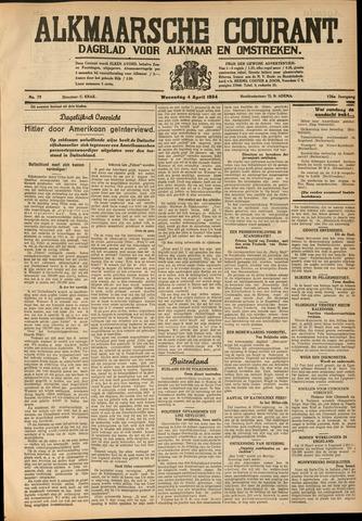 Alkmaarsche Courant 1934-04-04