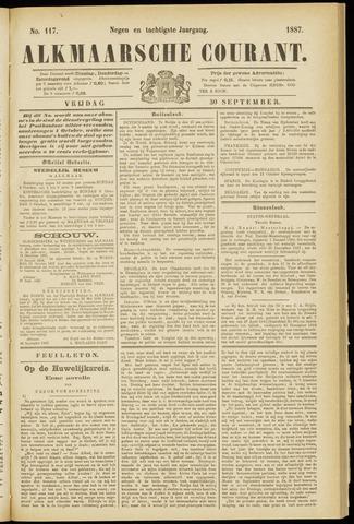 Alkmaarsche Courant 1887-09-30