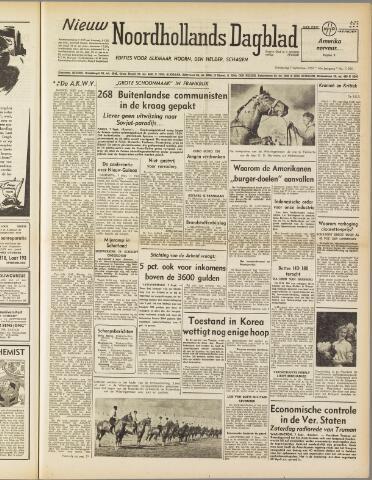 Nieuw Noordhollandsch Dagblad : voor Alkmaar en omgeving 1950-09-07