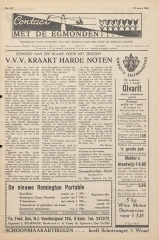 Contact met de Egmonden 1962-03-22