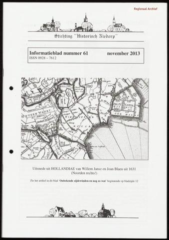 Informatieblad stichting Historisch Niedorp 2013-11-01