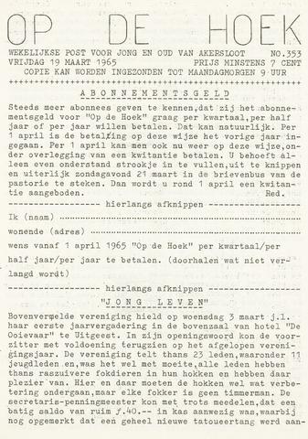 Op De Hoek, weekblad voor Akersloot 1965-03-19