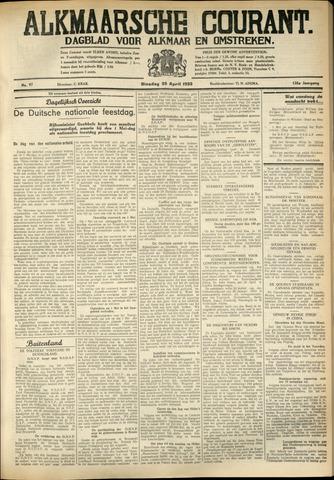 Alkmaarsche Courant 1933-04-25