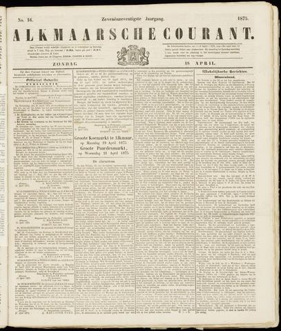 Alkmaarsche Courant 1875-04-18