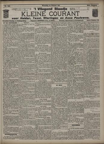 Vliegend blaadje : nieuws- en advertentiebode voor Den Helder 1910-02-23
