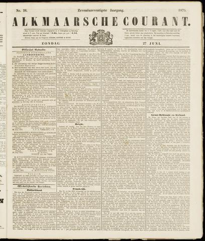 Alkmaarsche Courant 1875-06-27