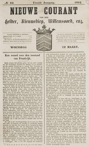 Nieuwe Courant van Den Helder 1862-03-12