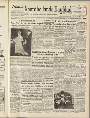 Nieuw Noordhollandsch Dagblad : voor Alkmaar en omgeving 1949-12-23