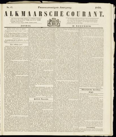 Alkmaarsche Courant 1870-11-20