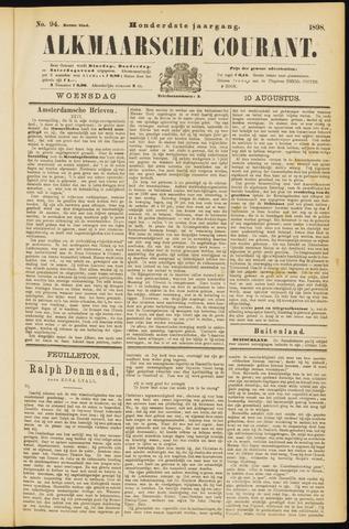 Alkmaarsche Courant 1898-08-10