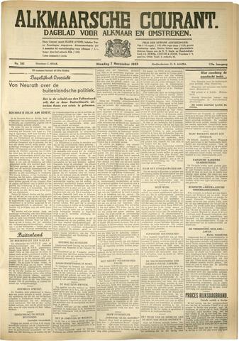 Alkmaarsche Courant 1933-11-07