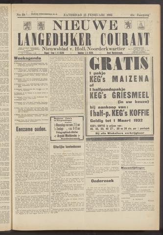 Nieuwe Langedijker Courant 1932-02-13