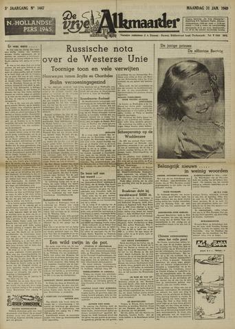 De Vrije Alkmaarder 1949-01-31