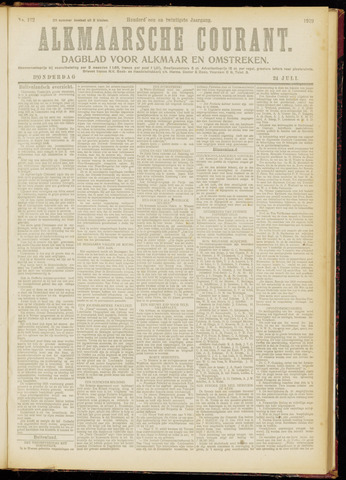 Alkmaarsche Courant 1919-07-24