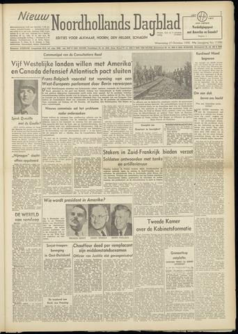 Nieuw Noordhollandsch Dagblad : voor Alkmaar en omgeving 1948-10-27
