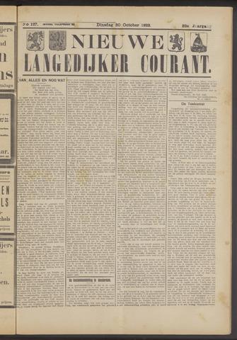 Nieuwe Langedijker Courant 1923-10-30