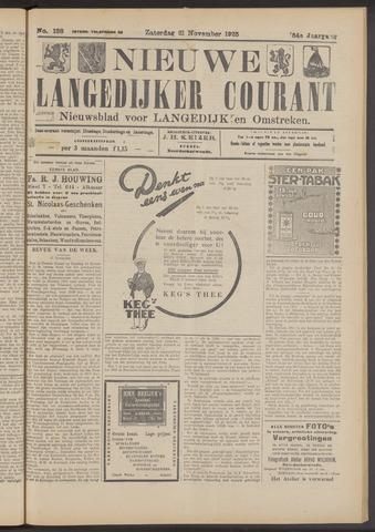 Nieuwe Langedijker Courant 1925-11-21