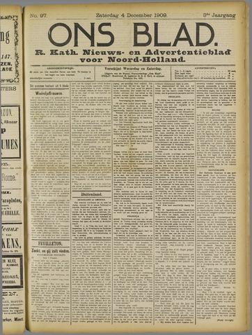 Ons Blad : katholiek nieuwsblad voor N-H 1909-12-04