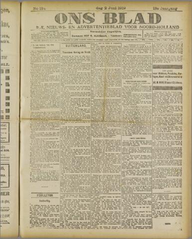 Ons Blad : katholiek nieuwsblad voor N-H 1919-06-02