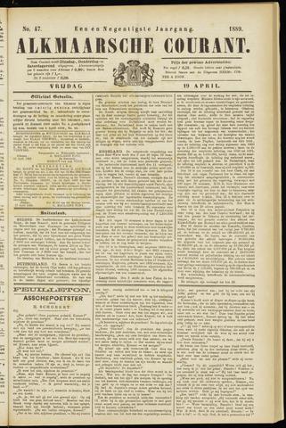 Alkmaarsche Courant 1889-04-19