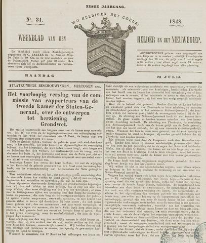 Weekblad van Den Helder en het Nieuwediep 1848-07-24