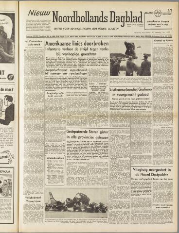 Nieuw Noordhollandsch Dagblad : voor Alkmaar en omgeving 1950-07-06
