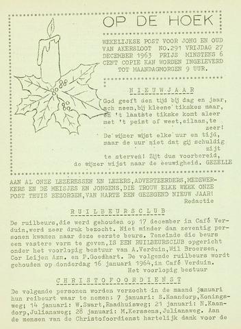 Op De Hoek, weekblad voor Akersloot 1963-12-27