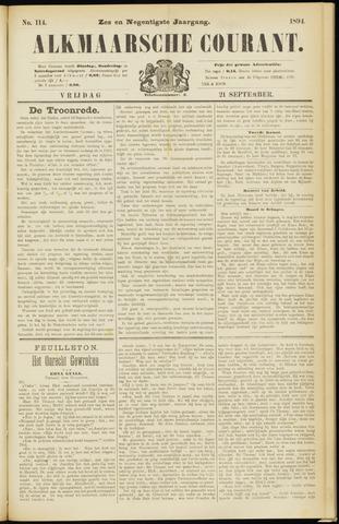 Alkmaarsche Courant 1894-09-21